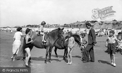East Wittering, Ponies On The Beach c.1955