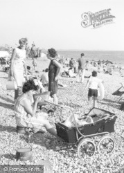 East Wittering, Pram On The Beach c.1965