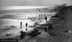East Wittering, Sunset c.1955