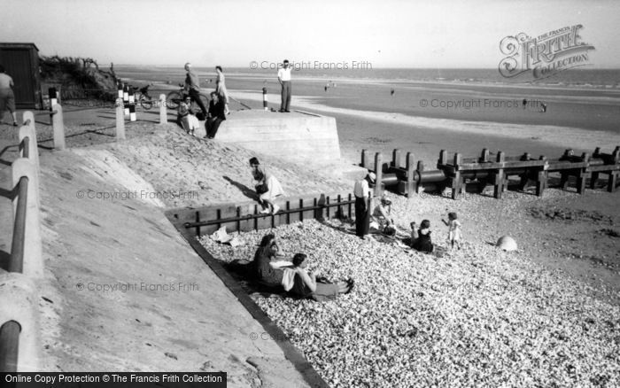 Photo of East Wittering, The Beach And Cliffs c.1955