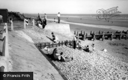 East Wittering, The Beach And Cliffs c.1955