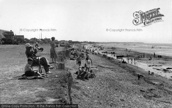 Photo of East Wittering, The Cliffs And Beach c.1955