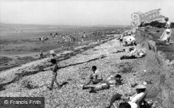 East Wittering, The Cliffs And Beach c.1955