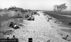 East Wittering, The Cliffs c.1955
