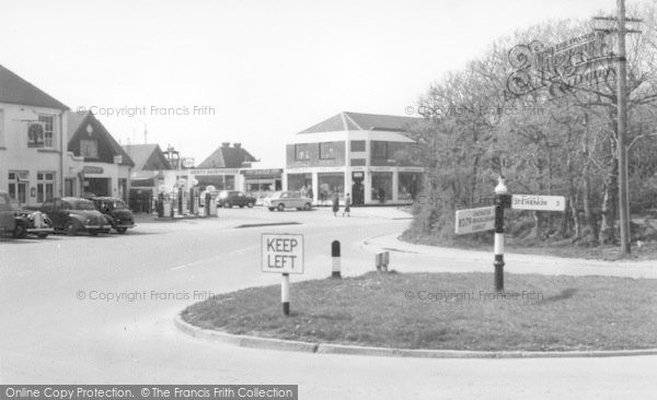 Photo of East Wittering, The Roundabout c.1960