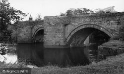East Witton, The River Ure c.1960