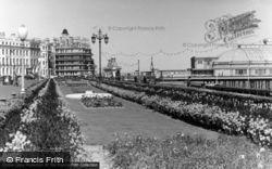 Flower Beds And Pier Entrance c.1955, Eastbourne