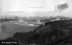 Eastbourne, From Above Golf Links 1894
