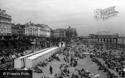 Eastbourne, The Beach c.1955