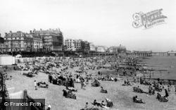 Eastbourne, The Beach c.1955