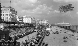 Eastbourne, The Beach c.1960