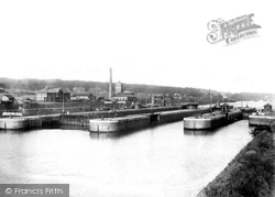 Eastham, Eastham Locks, Manchester Ship Canal  1894