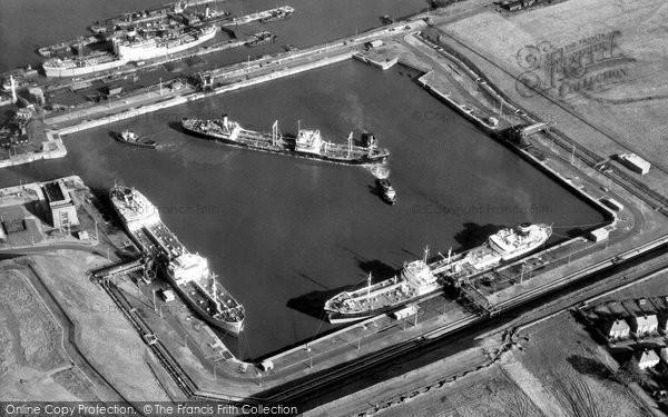 Photo of Eastham, Queen Elizabeth II Dock c.1965
