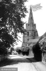 Eastham, The Church And Church Lane c.1955