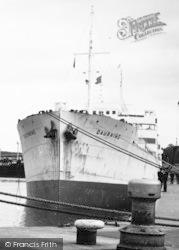 Eastham, The 'dauphine' In Queen Elizabeth II Dock c.1955