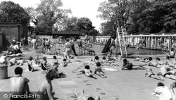 Eastleigh, The Swimming Pool c.1955