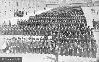 Eastney, Ceremonial Parade of the R.M.Artillery 1869