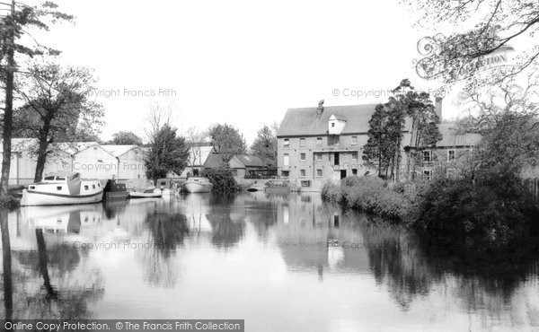 Eaton Socon,Mill and Great Ouse c1960,Cambridgeshire