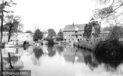 Eaton Socon, The Mill And The Great Ouse c.1960
