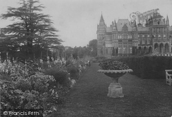 Eaton, The Hall, Gardens East Front 1914