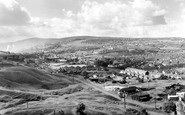 Ebbw Vale, from Beaufort Hill c1960