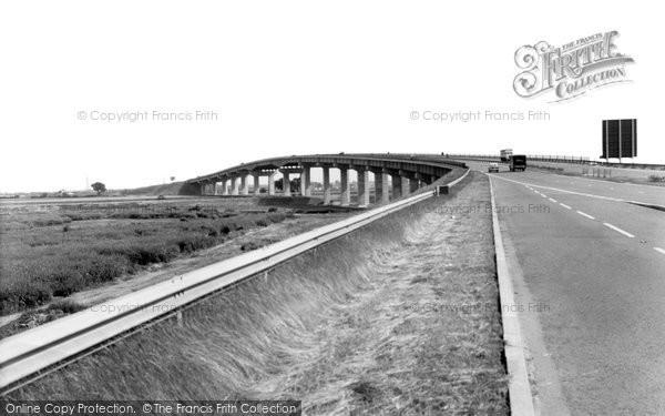 Photo of Eccles, New Barton Bridge c1965