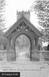 Ecclesfield, St Mary's Church, Lych Gate c.1955
