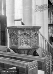 St Mary's Church, The Pulpit c.1955, Ecclesfield