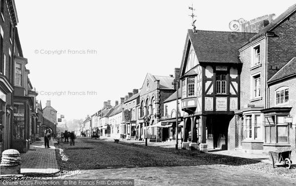 Photo of Eccleshall, High Street And Market Hall 1900