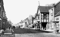 Eccleshall, High Street And Market Hall 1900