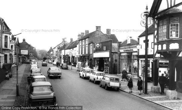 Photo of Eccleshall, High Street c.1965