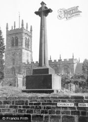 Eccleshall, Memorial And Church c.1955