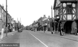 Eccleshall, View From The Cross Roads c.1955
