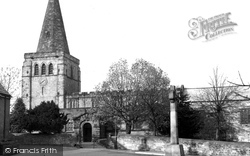 St Peter And St Paul's Church And War Memorial c.1955, Eckington