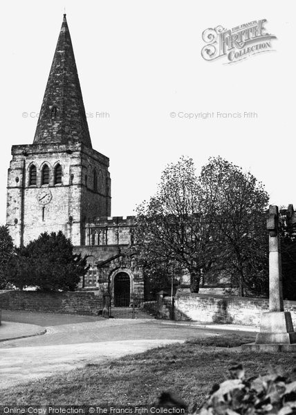 Photo of Eckington, St Peter and St Paul's Church c1955