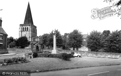 Eckington, War Memorial And St Peter And St Paul's Church c.1965