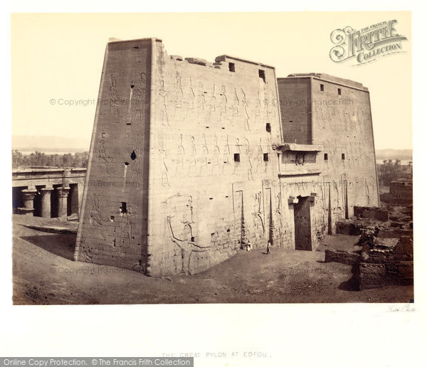 Photo of Edfu, The Great Pylon 1860