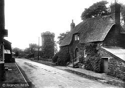 Edgehill, Old Cottage And Round Tower 1922