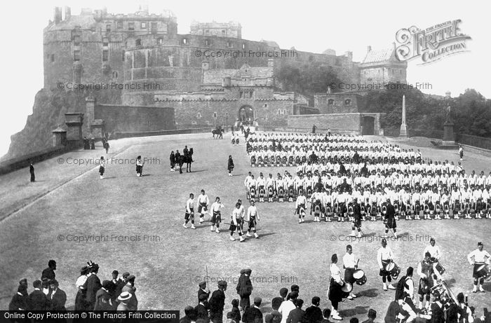 Edinburgh, Black Watch on the Castle Esplanade 1897
