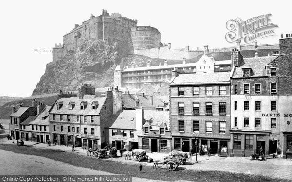Photo of Edinburgh, Castle from the Grassmarket 1883, ref. E24303