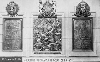 Edinburgh, Castle, War Memorials for R.A.S.C, R.E. and R.A.M.C. c1930