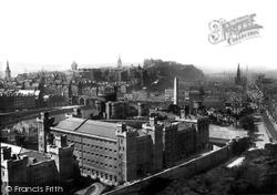 Edinburgh, From The Calton Hill 1897