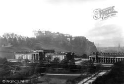 Edinburgh, National Gallery And Castle 1897