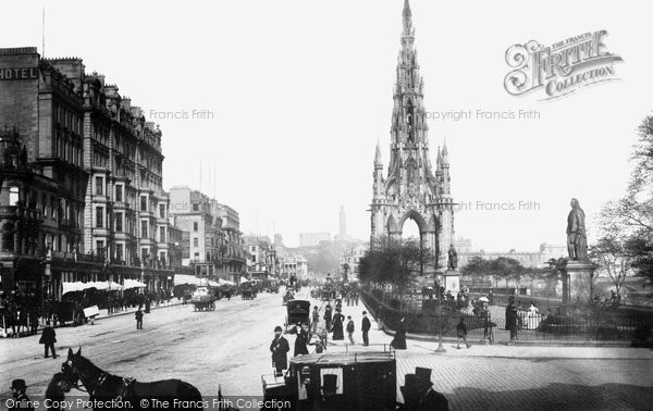 Photo of Edinburgh, Princes Street 1890