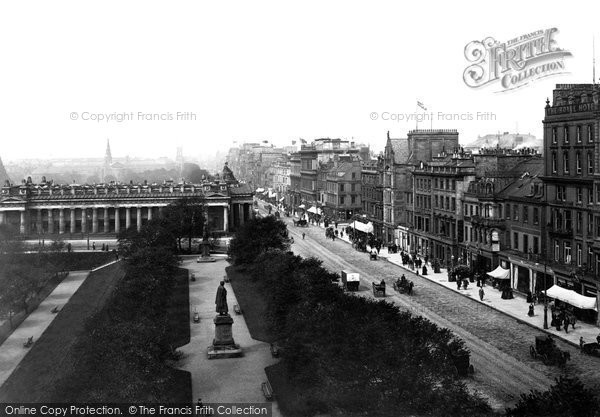 Photo of Edinburgh, Princes Street And Museum Of Antiquities 1897