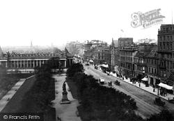 Edinburgh, Princes Street And Museum Of Antiquities 1897