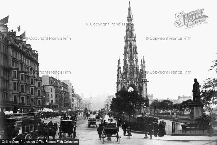 Photo of Edinburgh, Princes Street And Scott Monument 1883