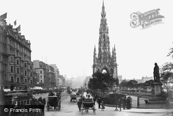 Edinburgh, Princes Street And Scott Monument 1883