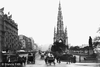 Edinburgh, Princes Street and Scott Monument 1883
