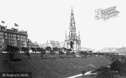 Edinburgh, Princes Street And Scott Monument c.1900